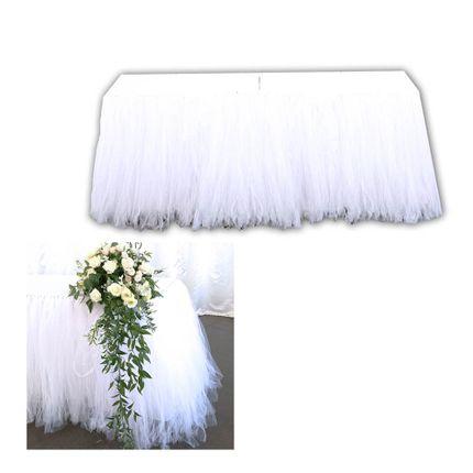 Юбка для стола из фатина белая
