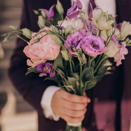 Букет невесты из свежих цветов