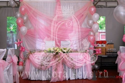 оформление свадьбы в розовых тонах