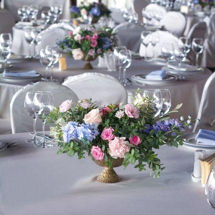 Цветы на столы гостей, до 35 см