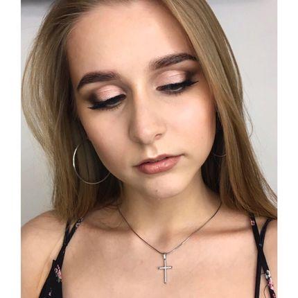 Пробный макияж + причёска