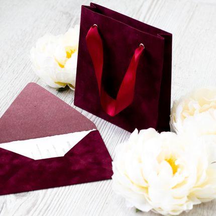 Бархатный конверт под приглашения