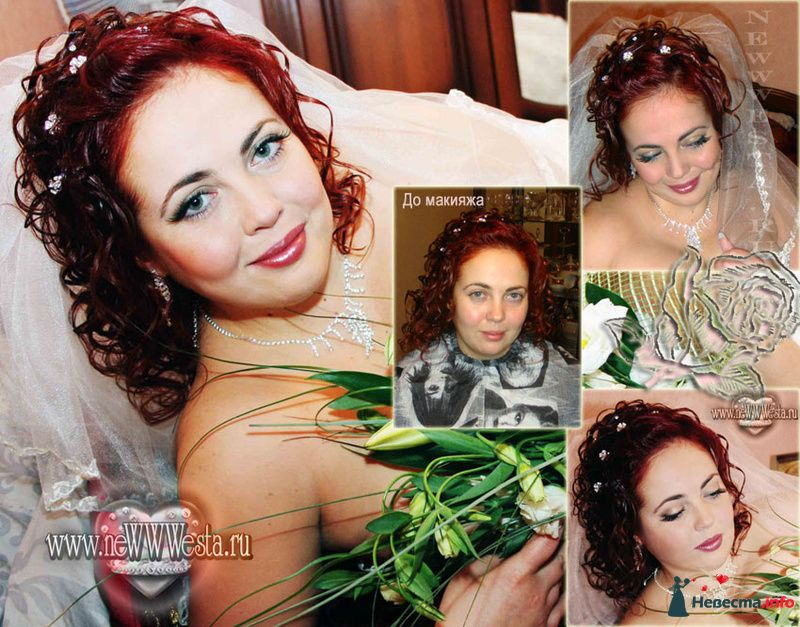 Прическа и макияж Оксаны (волосы средней длины) - фото 115666 Свадебный стилист-визажист Севостьянова Наталья