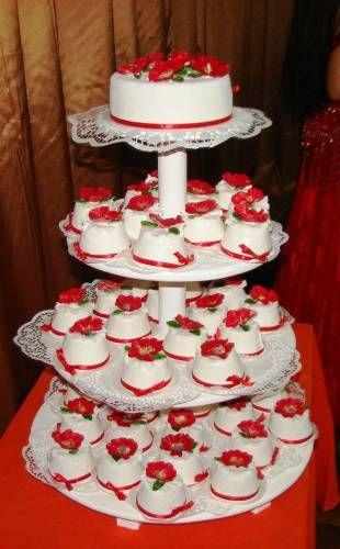 порционный свадебный торт фото