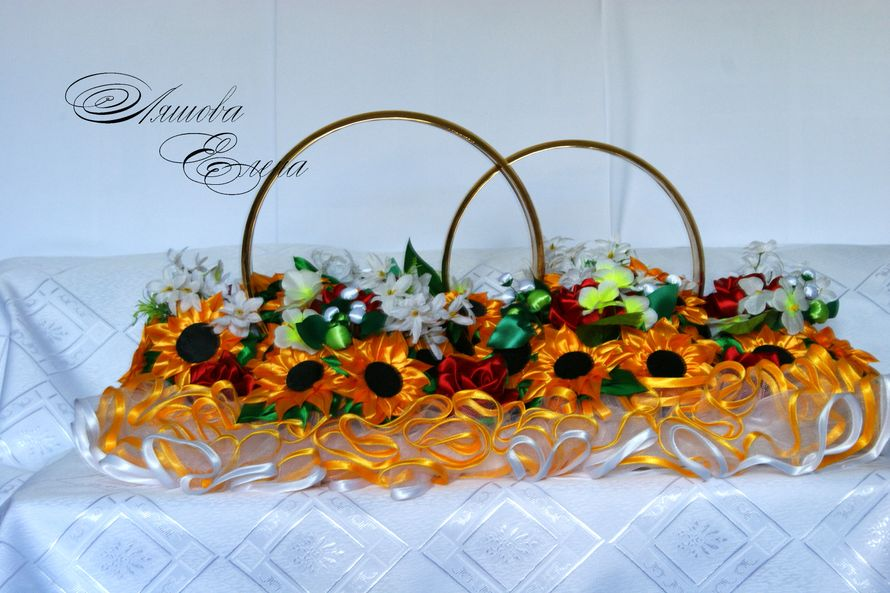Кольца на свадебный авто Цветочки полностью сделаны в ручную. - фото 2226632 Творческая мастерская Елены