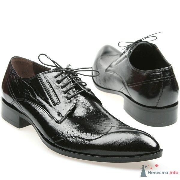 Мужские черные модельные  кожаные туфли со шнурками - фото 66885 Kwinto-shoes - cвадебная обувь