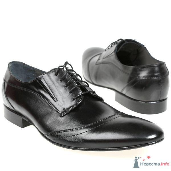 Черные мужские кожаные модельные туфли со шнурками - фото 76086 Kwinto-shoes - cвадебная обувь