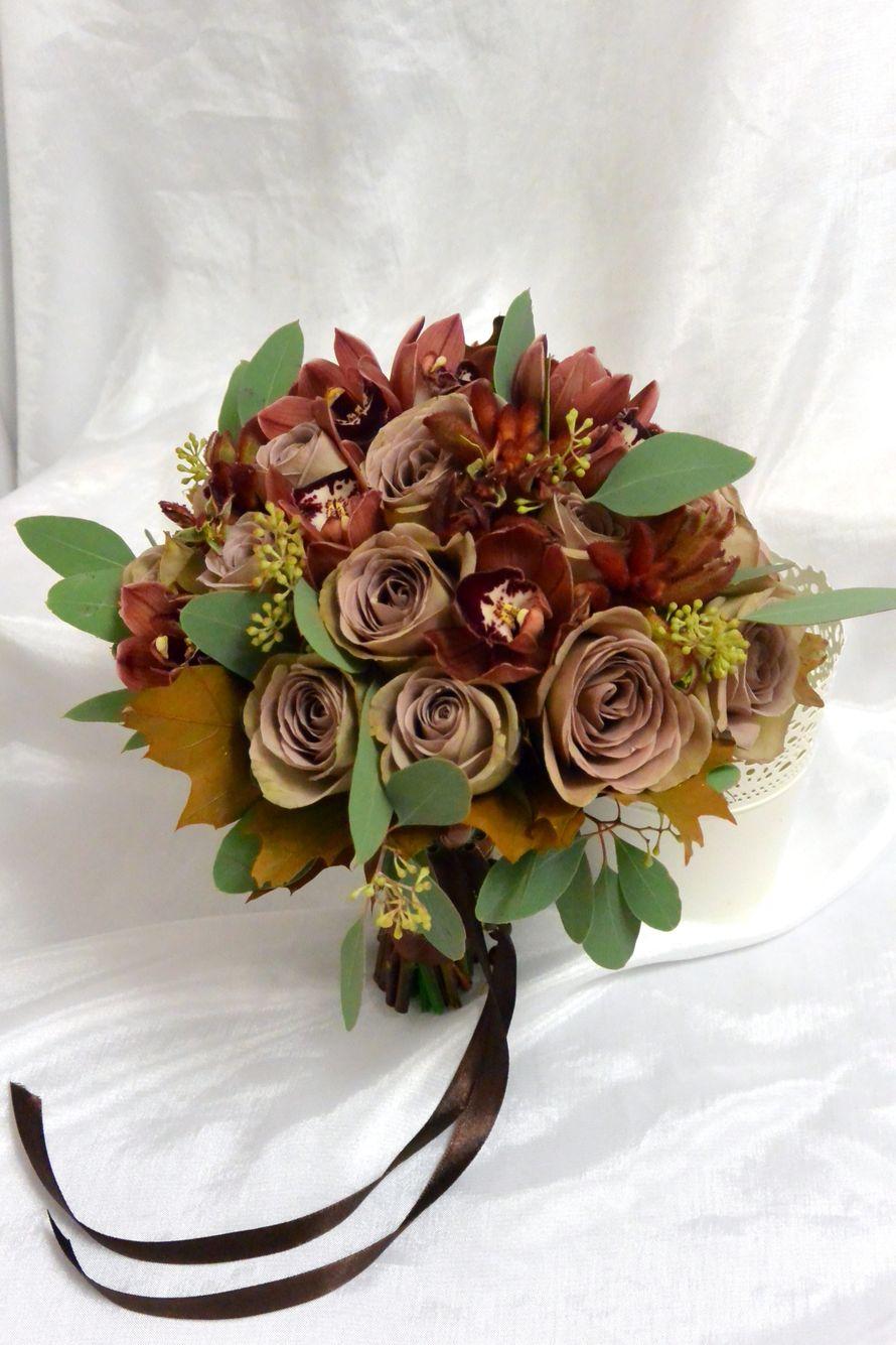 Букет из коричневые орхидеи мк, сайтов
