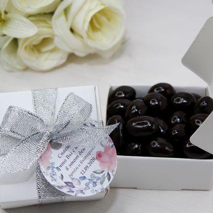 Бонбоньерка-коробочка с орехами в шоколаде, 1 шт.