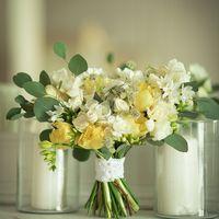 Букет невесты с желтыми тюльпанами