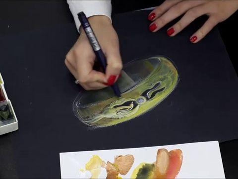 Создание эскиза обручальных колец Феникс.