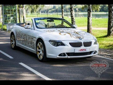 BMW 6 белый кабриолет