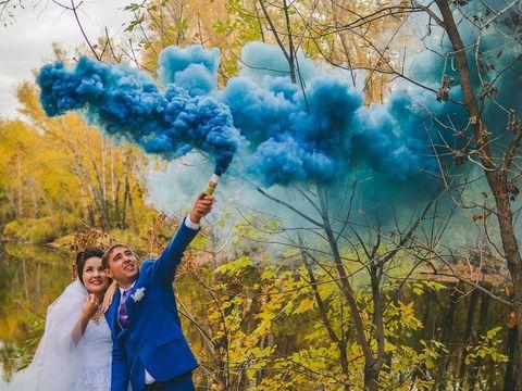 Чудо-пара Сергей и Алёна и чудо-гости на веселой свадьбе в Усть-Каменогорске