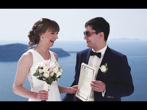 Maria&Nikolay. Santorini Wedding.