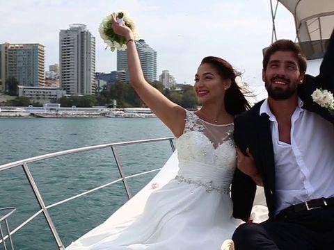 Оригинальная свадьба на яхте